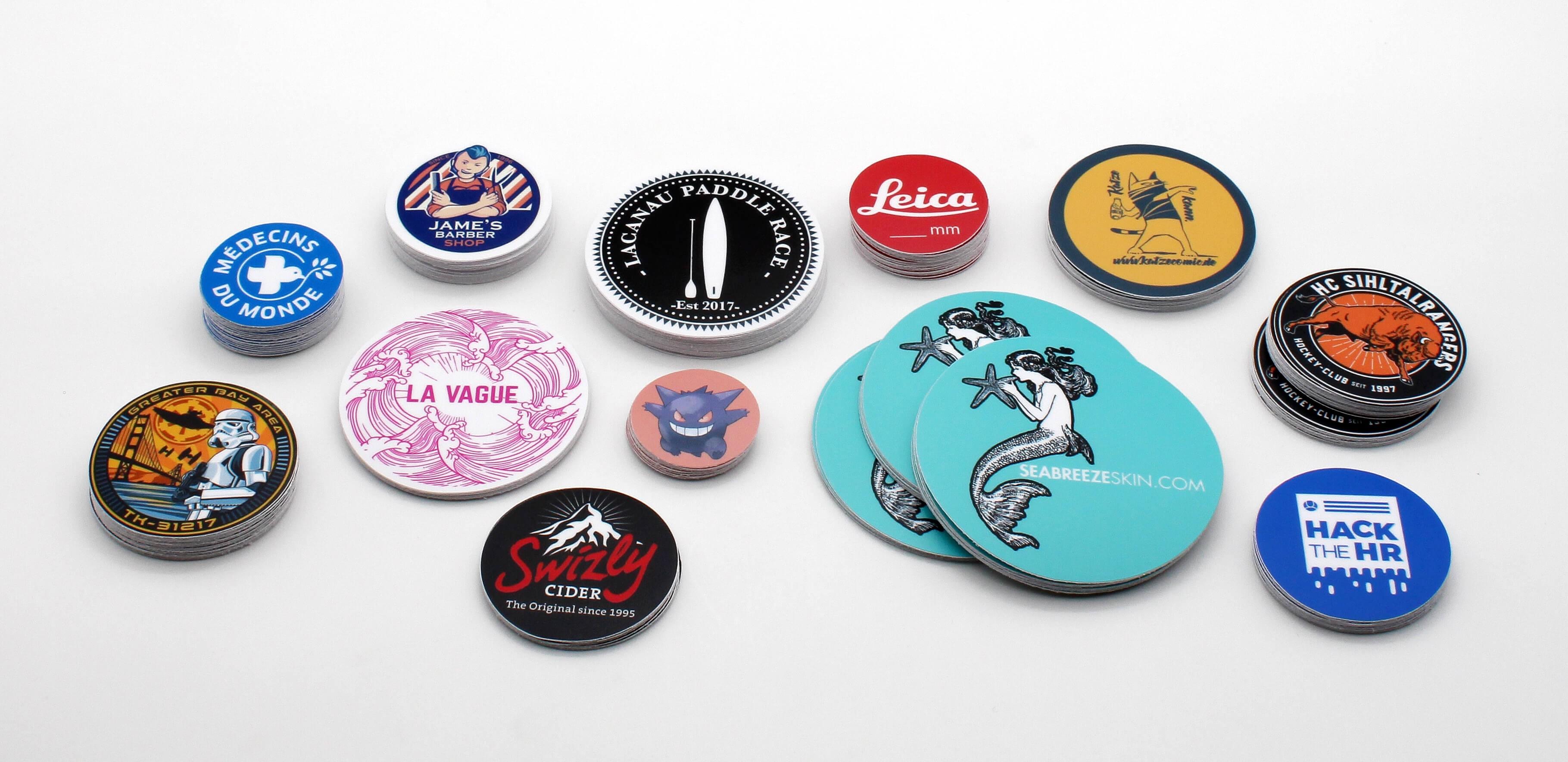 Custom Round Stickers Samples