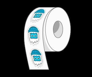 Custom Die Cut Roll Stickers
