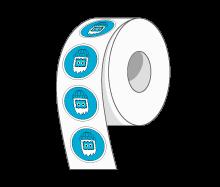Custom Round Stickers on Rolls by StickerYeti