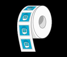 Custom Square Labels Rolls